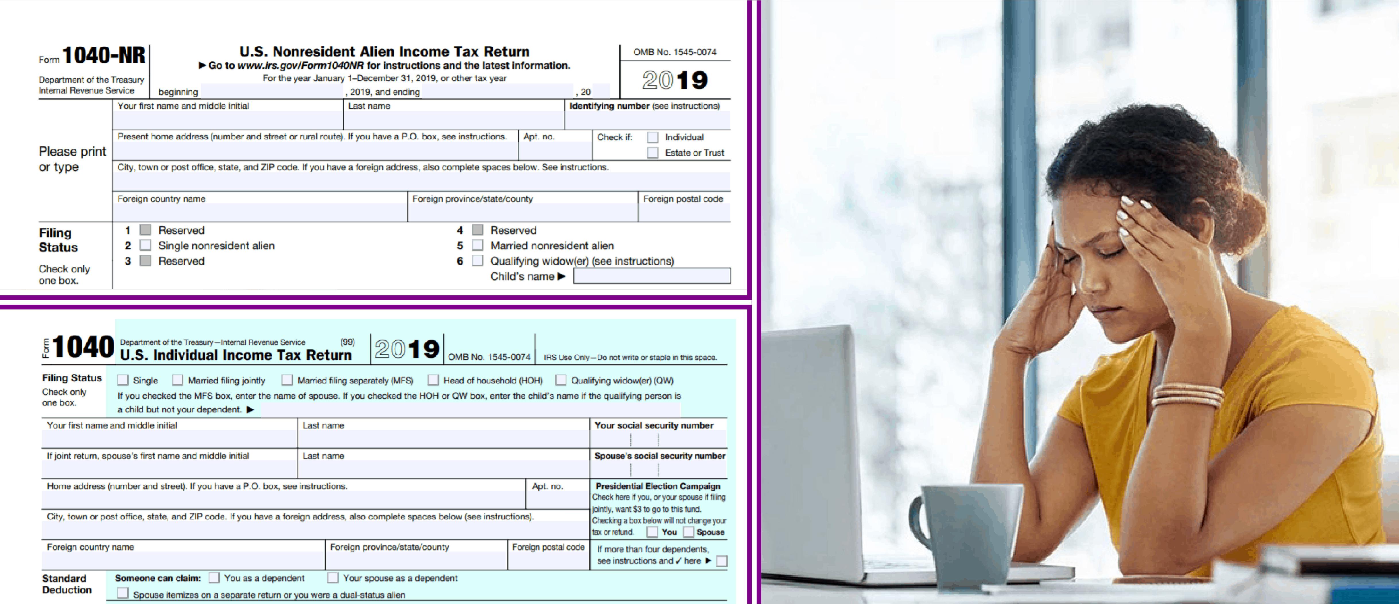 First Year Choice, 1040 NR & Dual Status Returns